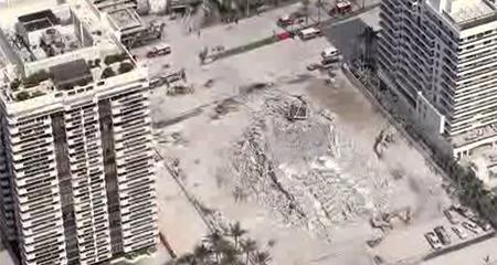 Una persona resultó herida tras colapso de edificio en Miami Beach