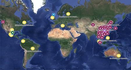 Este es el mapa de GoogleMaps que se actualiza mostrando los casos sospechosos y confirmados de coronavirus