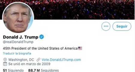 Estos son los tuits que Donald Trump escribió en la cuenta de POTUS y que fueron borrados por Twitter